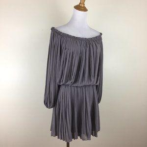 MAX STUDIO Pleated On/Off Shoulder Dress